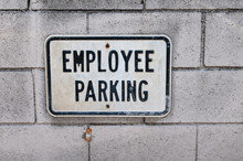 Employee Parking Sign On The W...
