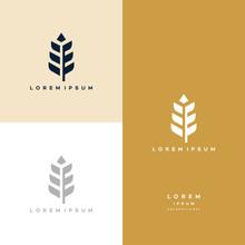 Luxury Grain Wheat Logo Concept, Agriculture Wheat Logo Template Vector Icon