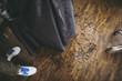 美容室の床に落ちた毛
