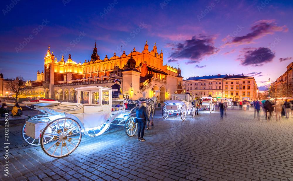 Fototapety, obrazy: Old town market square of Krakow, Poland.