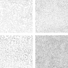 Hand Draws Dots Seamless Texture. A Set Of Backgrounds For Decorative Halftone Pattern Fills. Mezzotint Art. Vector