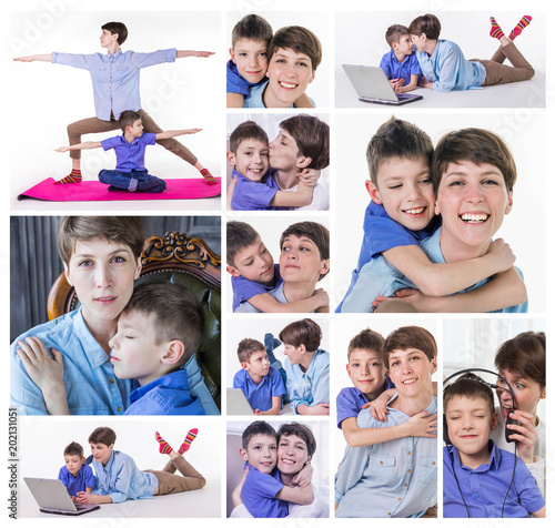 Mother's Day concept: Happy smiling mother and son #202131051