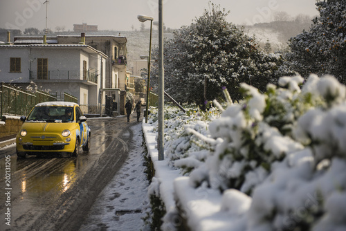 Photo Bacoli, Italy:exceptional snowfall, March 2018