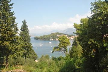 Fototapeta na wymiar View of the island city