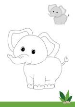 Animals Coloring, Elephant
