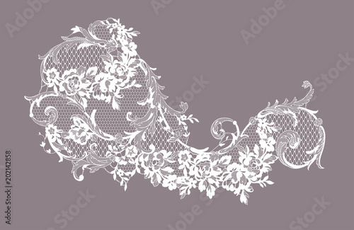 lace ornate element. vector illustration Canvas-taulu