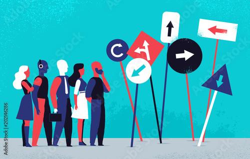 Photo Persone impegnate a scegliere la direzione giusta