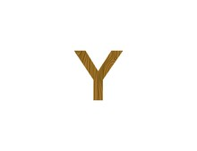 Letter Y Logo Template With Wood Texture