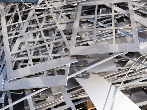 Obraz Składowisko złomu jako ddpad produkcyjny - fototapety do salonu