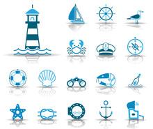 Meer Und Küste - Iconset (Blau)