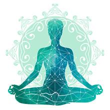 Yoga Watercolor Silhouette