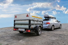 Car With Trailer Road