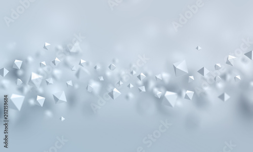 Abstract 3d polygonal futuristic background