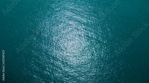 Sea surface aerial view Fototapet