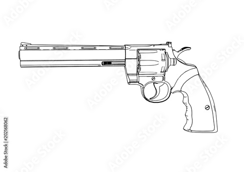 Fotomural outline of a gun vector.