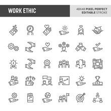 Work Ethic Vector Icon Set