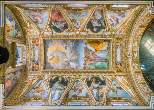 Valokuva The vault with The Ascension of Christ by Cristoforo Casolani, in the Church of Santa Maria ai Monti, in Rome, Italy
