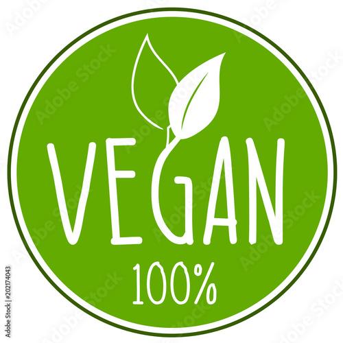 Vegan Icon Wall mural