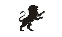 Silhouette Lion King Heraldry Logo Design Inspiration