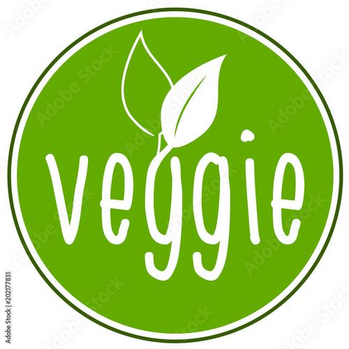 Veggie Vegan vegetarisch Icon Wallpaper Mural