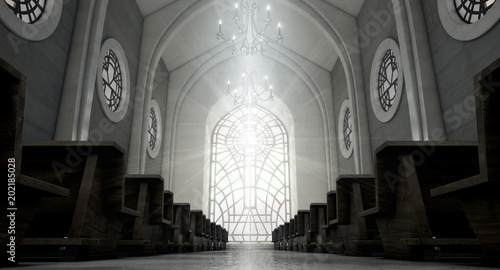 Stained Glass Window Church Wallpaper Mural