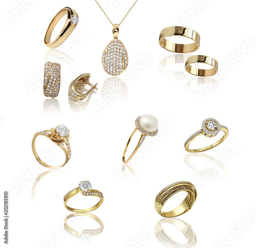 Best jewelry pendant and earrings set. Jewelry composition. Symbol of love #202185810