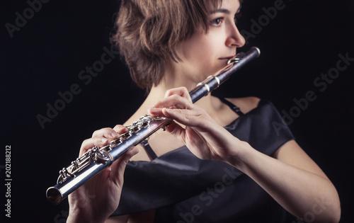 Papiers peints Musique Flautist