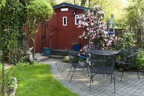 Cuadros en Lienzo Garten, Gartenlaube, Schrebergarten