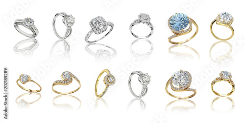 Set of rings. Best wedding and engagement ring #202189289