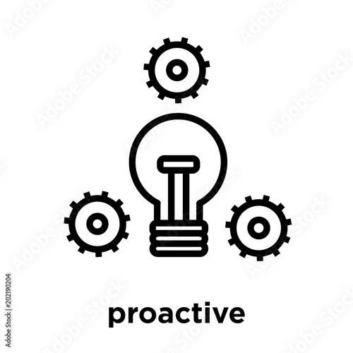 Obraz proactive icon isolated on white background - fototapety do salonu