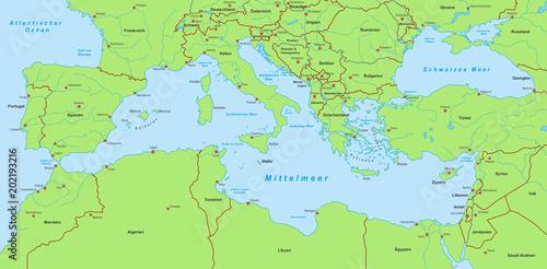 Mittelmeer Karte.Mittelmeerkarte Grün Kaufen Sie Diese Vektorgrafik Und Finden