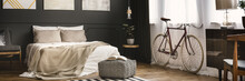 Bedroom With Bike