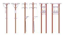 Electric Wire Poles Set