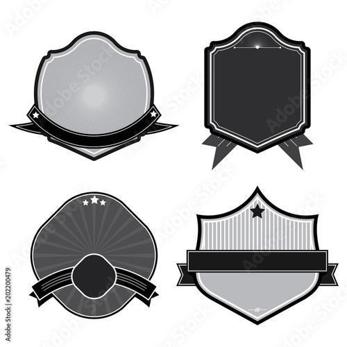 Set of badges ribbons and labels set 3 - Acheter ce vecteur