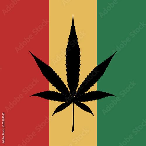 Cannabis Leaf Marijuana Bob Marley Flag Medical Cannabis Logo