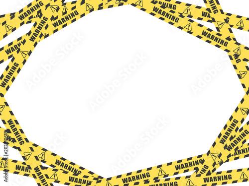 Fotografía  警告 注意 テープのフレーム素材