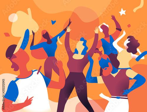 La Festa è Iniziata Wallpaper Mural