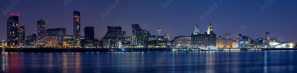 Fototapeta Liverpool Skyline