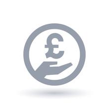 British Pound Hand Symbol - Br...