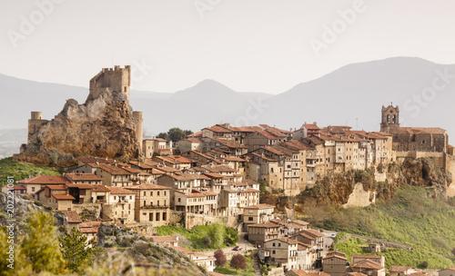 Village of Frías in Burgos, Castilla y León. Spain. Ancient and medieval architecture with castle.