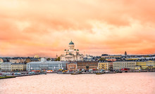 Ariel View Of Helsinki At Suns...