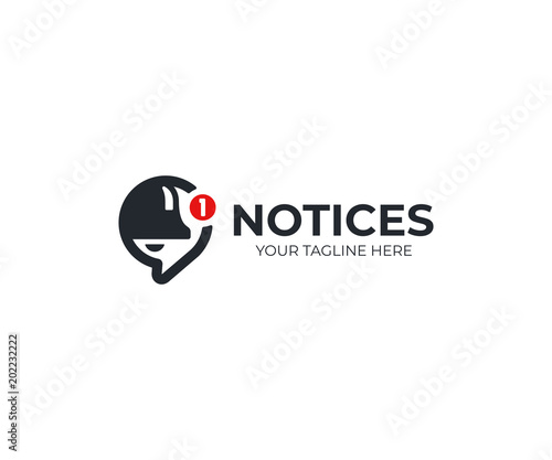 Fotografía  Notification logo template
