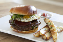 Wagyu Beef Burger With Fried Egg