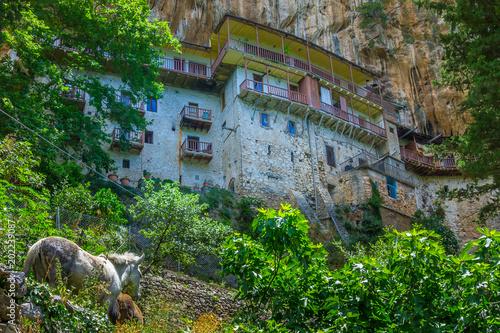 Prodromos monastery in Arcadia prefecture in Peloponnese Greece Canvas Print