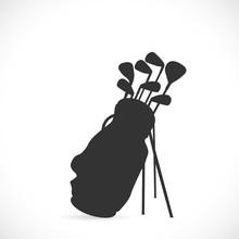 Golf Clubs Illustration