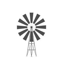 Windmill Silhouette Illustration