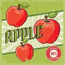 Apple Vintage Retro Signage Ve...