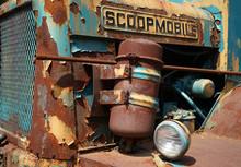 Truck, Engine, Tractor, Junkyard