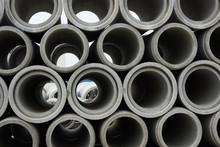 Stacked Concrete Pipes At Conc...