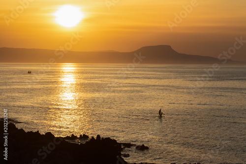 Foto op Aluminium Strand Stand Up Paddleboard, Sporting on water, Cretan summer fun.